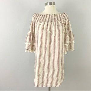Altar'd State medium Dress Off Shoulder Stripe
